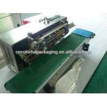 Máquina de selagem a quente para sacos de plástico de selagem / transportador de máquina de selagem de saco de folha de alumínio