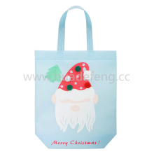 Blue Non-woven Santa Claus Hand Bag Shopping Bag