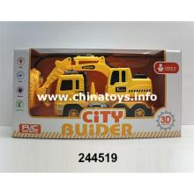 Novo carro de construção de controle remoto 2CH de brinquedo de plástico (244519)