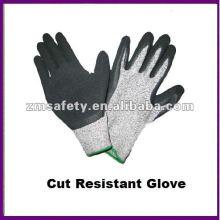 Guante de trabajo resistente a cortes recubierto de PU gris