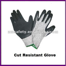 Grey PU Coated Cut Resistant Work Glove
