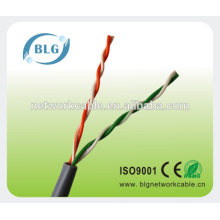 Chaqueta de PVC CE ROHS certificada 2 pares de cables de UTP Cat5e para TV