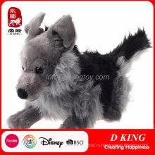 Серый Гигантский Волк Плюшевые Чучела Животных Игрушки