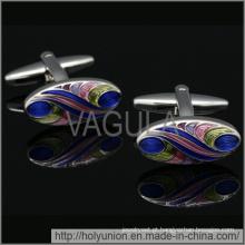 VAGULA abotoaduras Metal Oval abotoaduras (Hlk31726)