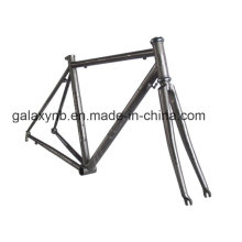 Marco de bicicleta alta flexibilidad titanio ligero