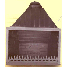 Grecia Diseño Insertar la estufa de hierro fundido, chimenea (GF004)