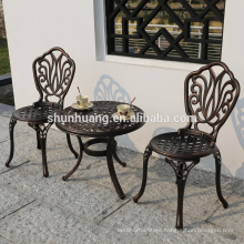 Best price  outdoor backyard furniture cast aluminum dining chair and table set