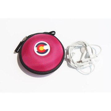 Casing earphone mini bundar untuk earphone Apple