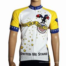 Пользовательские теплопередачи с коротким рукавом Велоспорт одежда (058)