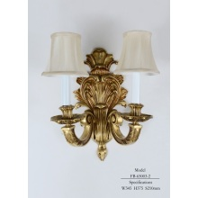 Classical Brass with Fabric Lampshade Wall Lamp (FB-65003-2)