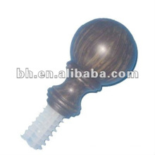 glass plastic acrylic resin curtain crystal ball finials