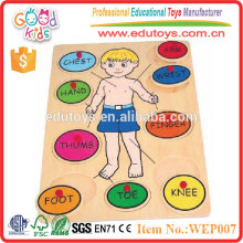 2015 Promotional Toys Body Study Toy Wooden Baby Puzzle