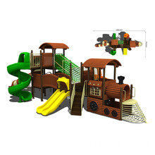 Playground Equipment, Large Slide Combination, used in Park