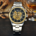 fashion factory direct custom skeleton automatic mechanical wrist watch