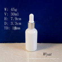 30ml Milky White Glass Dropper Bottle Glass Essential Oil Bottle Wholesale