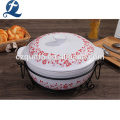 Flower & Butterfly Set of Casserole with wire rack
