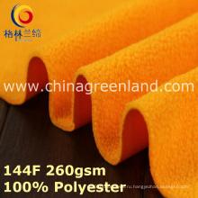 Ткань полиэфирной трикотажной полоской флисовой ткани для одежды из шерсти (GLLML393)