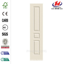 18 in. x 80 in. High Quality Woodgrain 3-Panel White Primed Molded Interior Door Slab