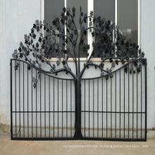 Горячая распродажа высокое качество Европейский стиль пользовательских двор украшение покрытие кованые железные ворота