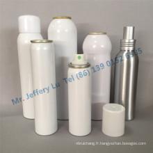 Bouteille en aluminium à sertir en aluminium sur les pompes