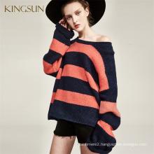 Boy Friend Slouchy Style, Women's Heavy wool Alpaca Blends Sweater, Shoulder Slope drop Loose Knit Sweater For Women