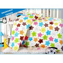 4 piezas 100% algodón funda de edredón bebé conjunto de ropa de cama