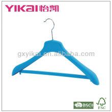 Flocking вешалка для одежды с широкими плечами и штанами для брюк