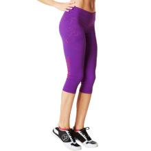 Pantalones de compresión al por mayor de las mujeres de nylon Spandex
