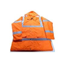 Grippe-Orange-Jacke mit Baumwolle