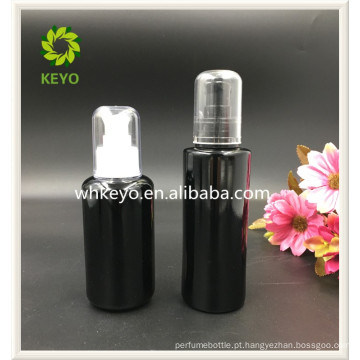 100 ml venda Quente compõem embalagem âmbar transparente colorido vazio frasco conta-gotas de vidro cosmético com bomba pulverizador