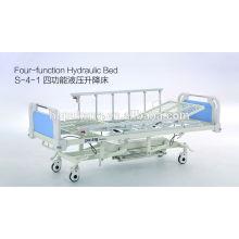 Lit d'hôpital hydraulique à quatre fonctions