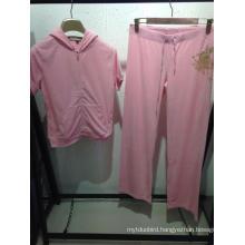 Women Fashion Cotton Velvet Suit