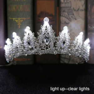 Lighting Up Crystal Handmade Wedding Tiaras