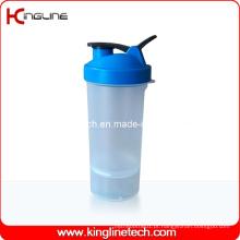 Garrafa de plastilina proteica de 600 ml com 1 recipiente em Battom e filtro (KL-7004D)