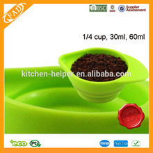 250ml,125ml,80ml,60ml Different Sizes Food Grade Silicone Adjustable Measuring Cup/Measuring Cup Set of 4pcs