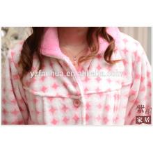 Terno de poliéster pijama velo coral para Homewear inverno