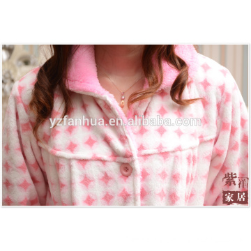 Coral Fleece Polyester Pajamas Suit for Winter Homewear