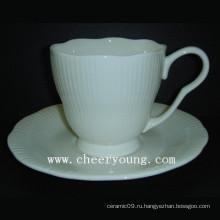 Кофейная чашка и блюдце (CY-B542)