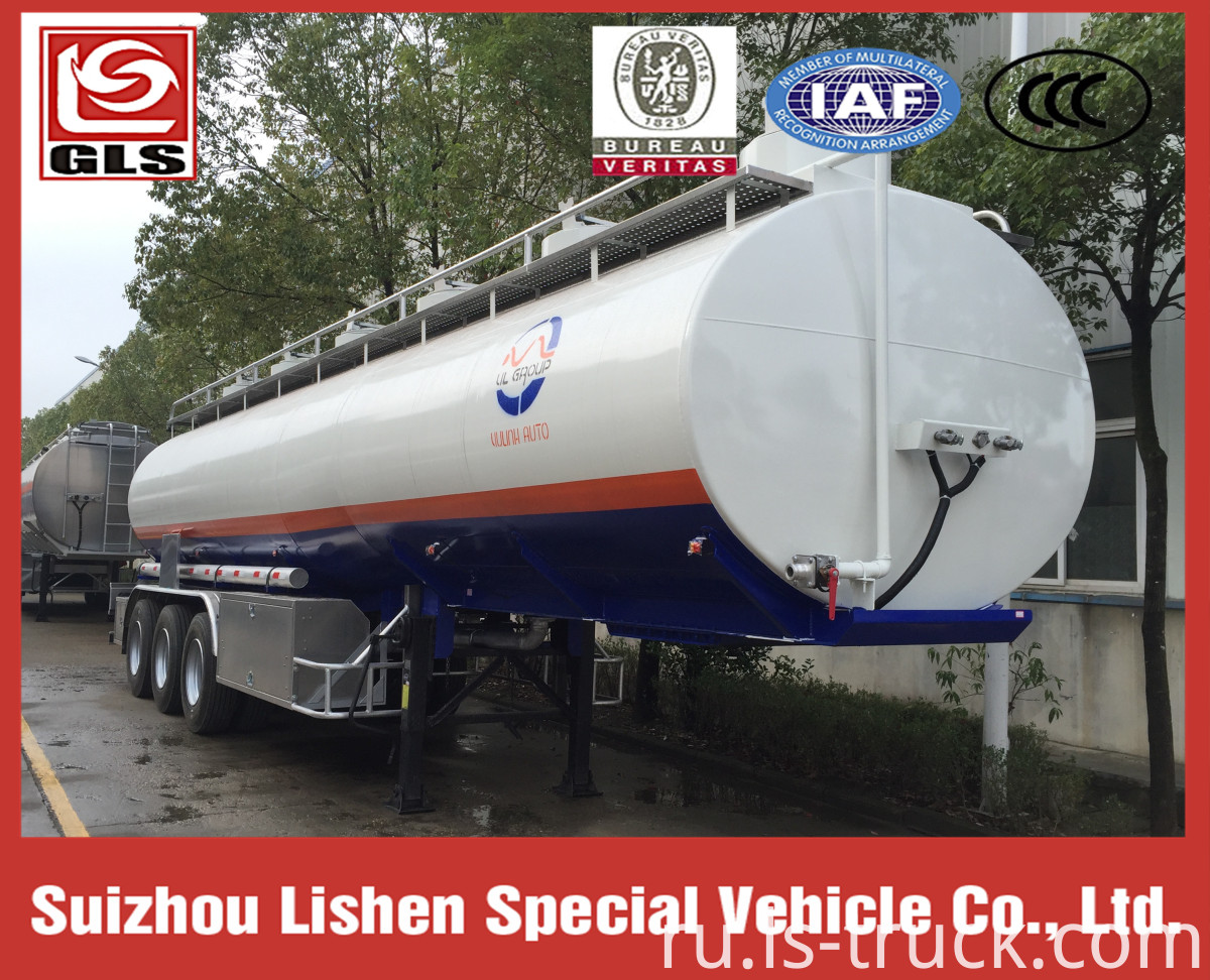 40000L Cheap Oil Tank Semi-Trailer Fuel tanker