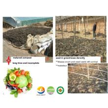 Compuesto microbiano de estiércol animal a Bio Fertilizante