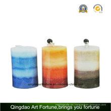 Perfumada pilar de la vela de arte para la decoración del hogar fabricante