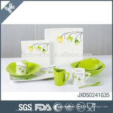 Top-Grade-Porzellan-Frisch-Print maßgeschneiderte Logo-Geschirr Restaurant-Teller