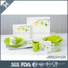 Top grade porcelain fresh print customized logo dinnerware restaurant plates