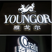 Lighted Storefront Signs LED Ljus Letters Logo