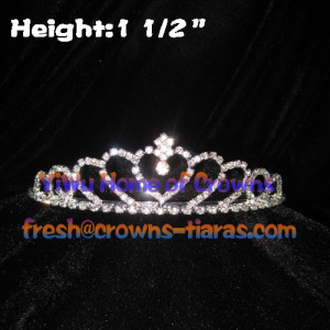 Heart Shaped Princess Rhinestone Tiaras