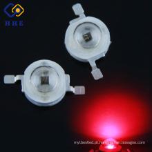 Perto do diodo emissor de luz infravermelho 660nm do poder superior 3W do poder superior vermelho do diodo alto conduzido