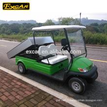 EXCAR Utilitaire électrique Chariot 48V 2 sièges voiture de voiturette électrique chariot de golf avec Cargo Box