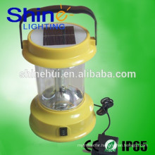 ABS engineering plastic led lantern with fm radio, solar lantern usb charger, hand crank camping lantern