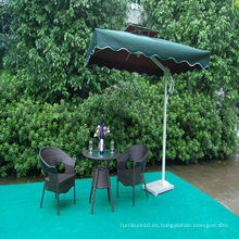 Ocio al aire libre Silla de mesa de ratán con sombrilla