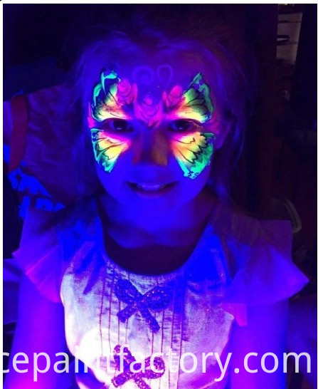 Fluorescent Face Paint